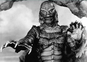 The Gill Man from Universal's 'Creature From The Black Lagoon'