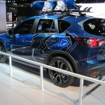 Mazda CX5 with snowboarding gear.