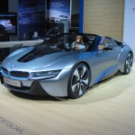 BMW I8 fully electric concept.  It would be decidedly neat if cars like this were on the road everywhere!